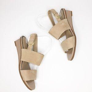 Judith Ripka Zoe Wedge Sandal Size 7.5